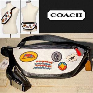❗️LAST ONE❗️ COACH MARVEL Belt Bag Patch Spiderman